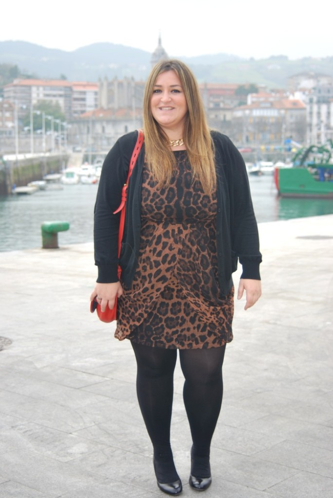 ax paris dress- leopard- print- street style