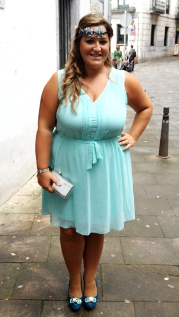 look boda- vestido aguamarina- mint dress- street style