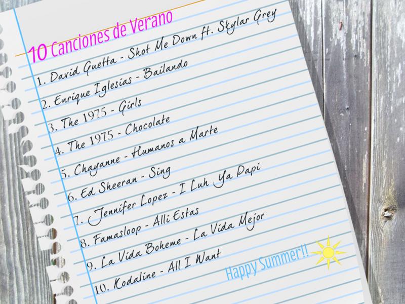 10 Canciones de Verano